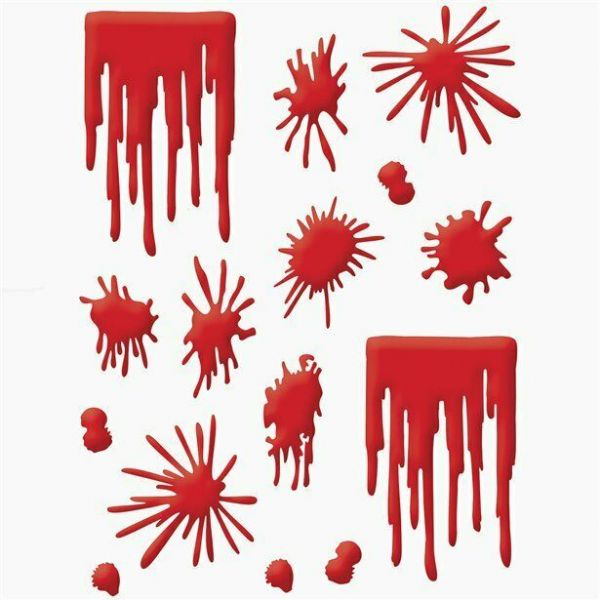 Halloween Gel Blood Splat Window Clings
